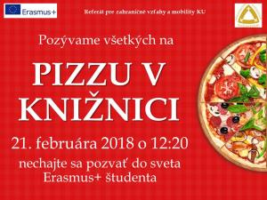 21.2.2018 Erasmus - Pizza in the library